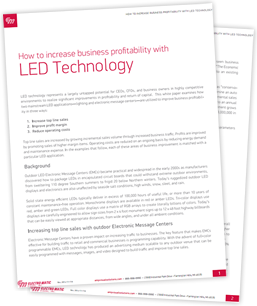 How to increase business profitability with LED technology